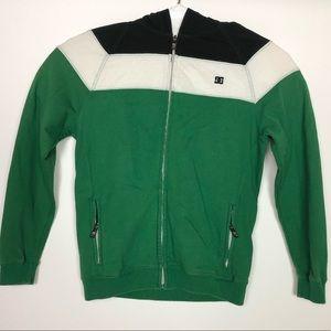 DC zip up with hoodie and hidden pocket. Medium